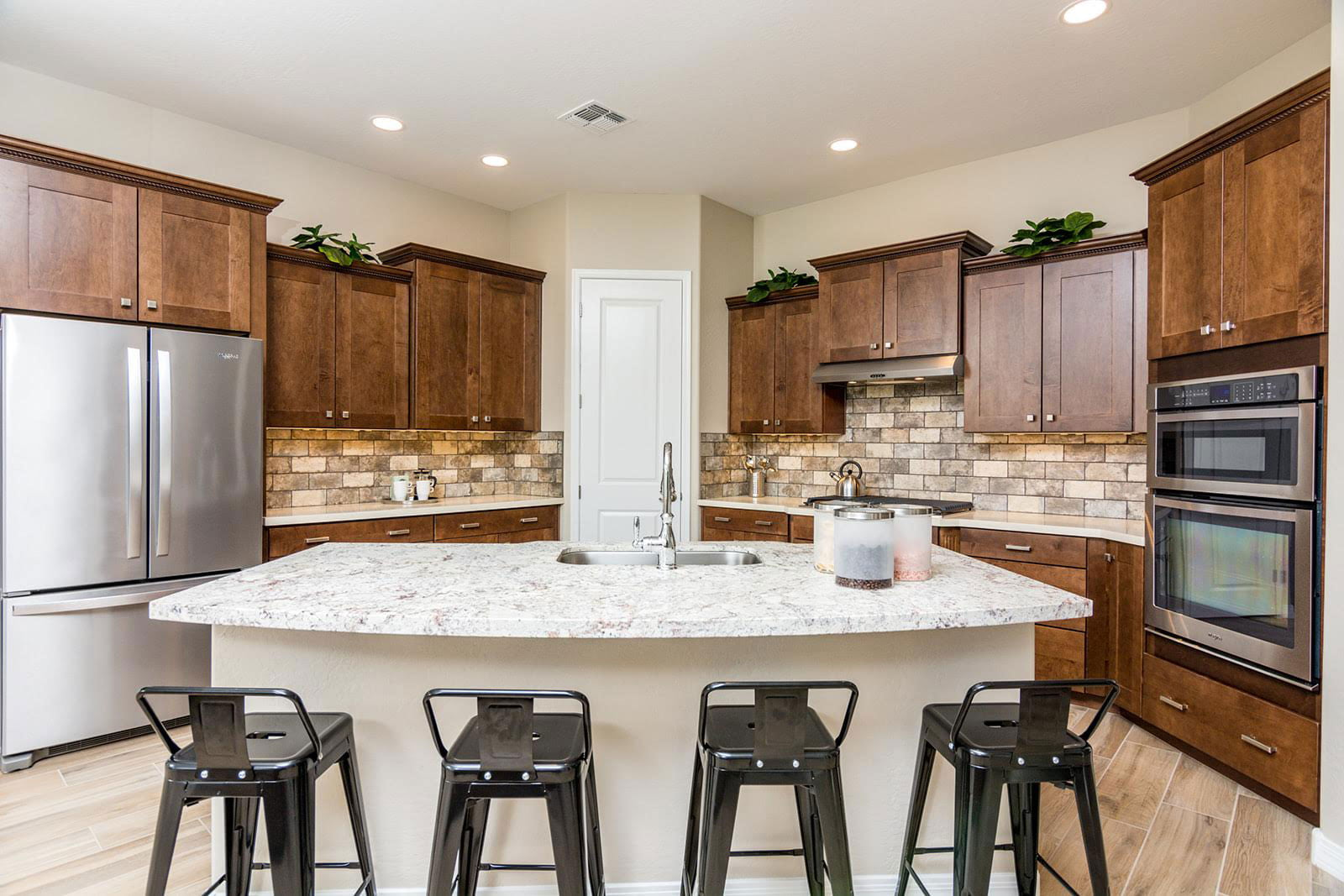 Kitchen in new homes in Phoenix by Commons Community
